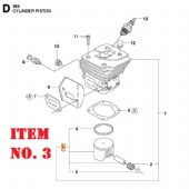 Piston Assembly - D47  (Husqvarna Part No. 576472202)